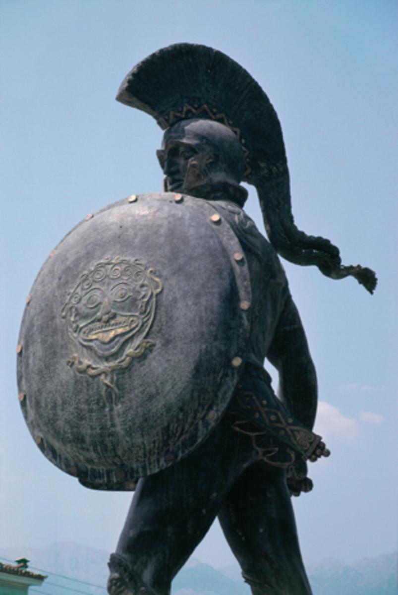 Leonidas, commemorative statue at Thermopylae