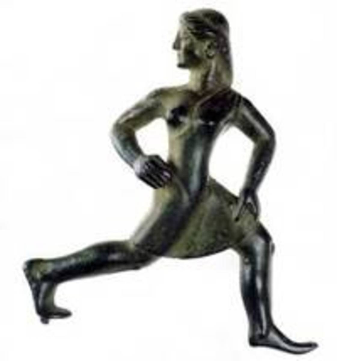 Spartan maiden running a foot-race, c. 520 BC