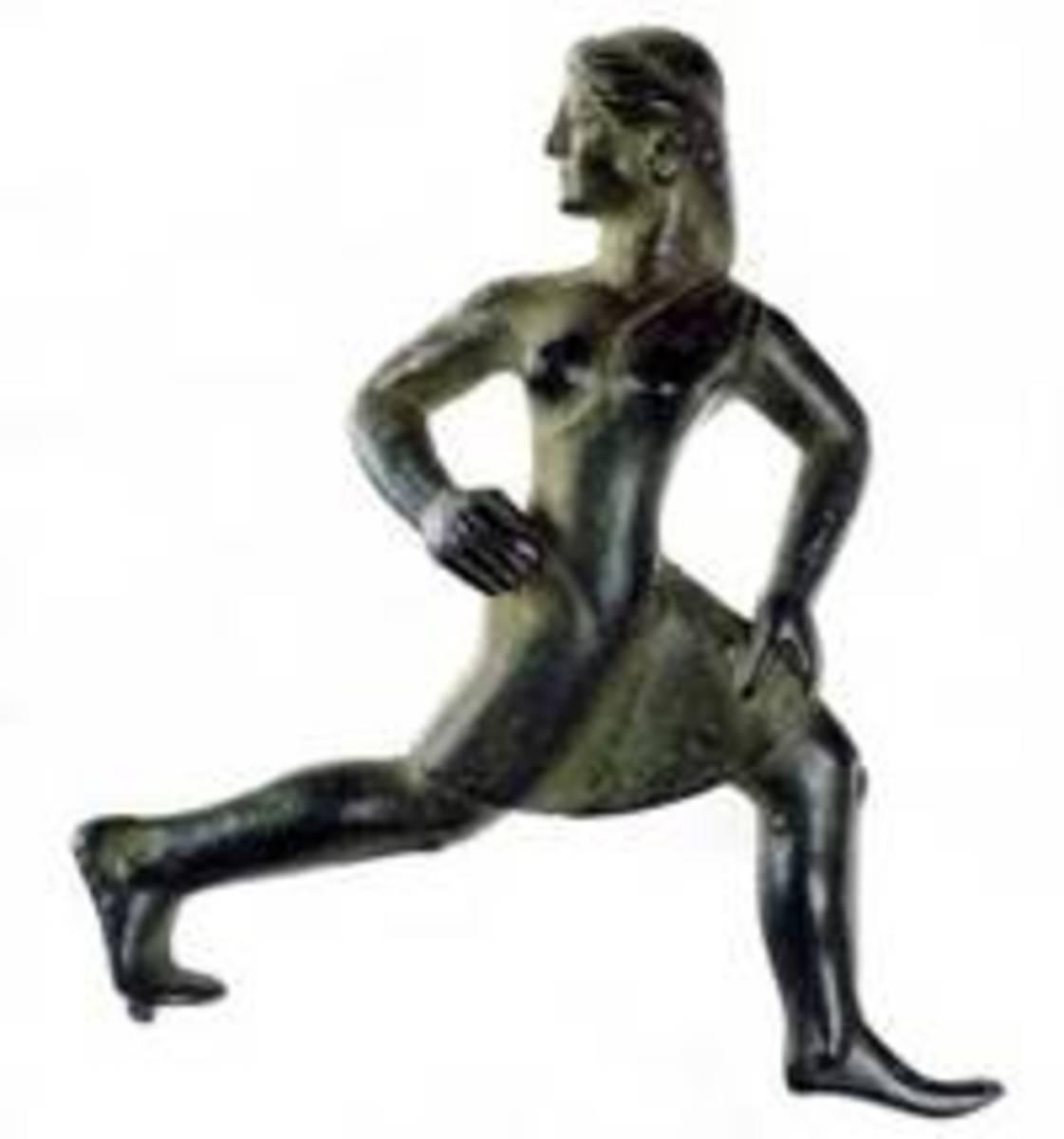 Spartan maiden running a foot-race, c. 520 BC