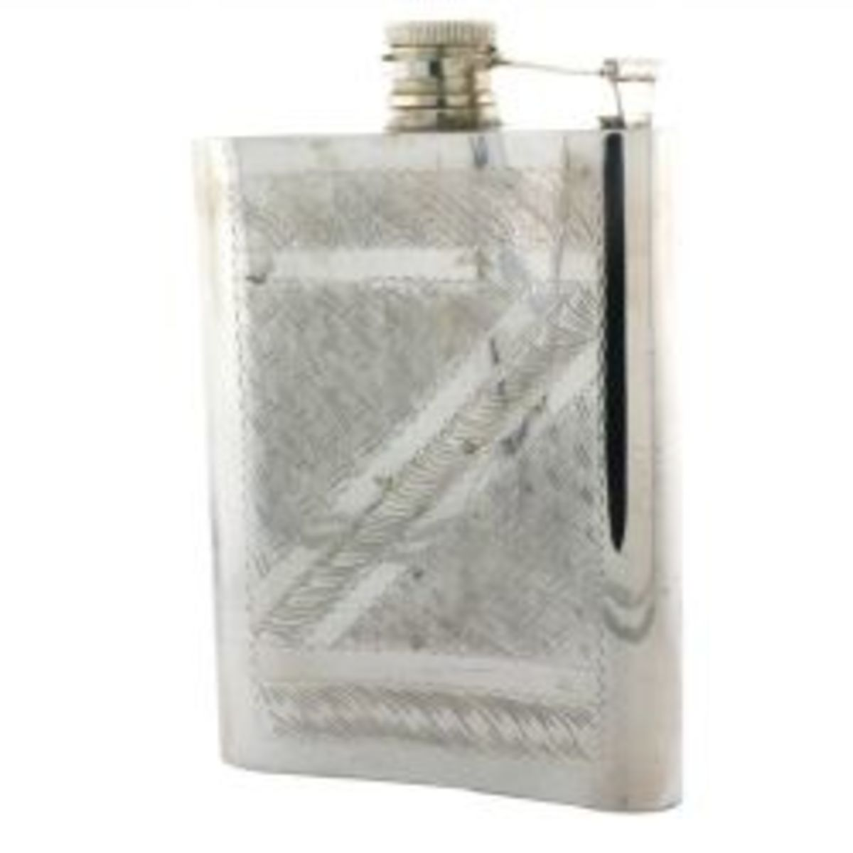Silver 25th Anniversary Wedding Flask