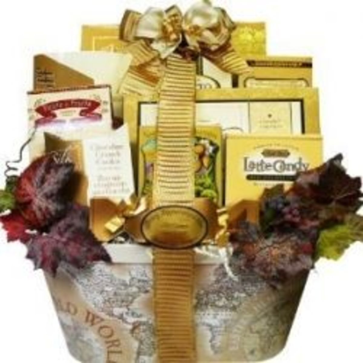 ... gifts are tied with pretty ribbons and it includes a personalized gift