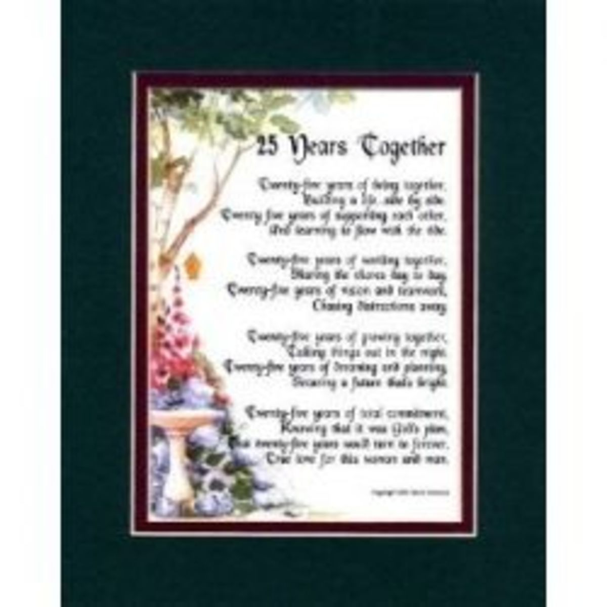 25th Wedding Anniversary Poem