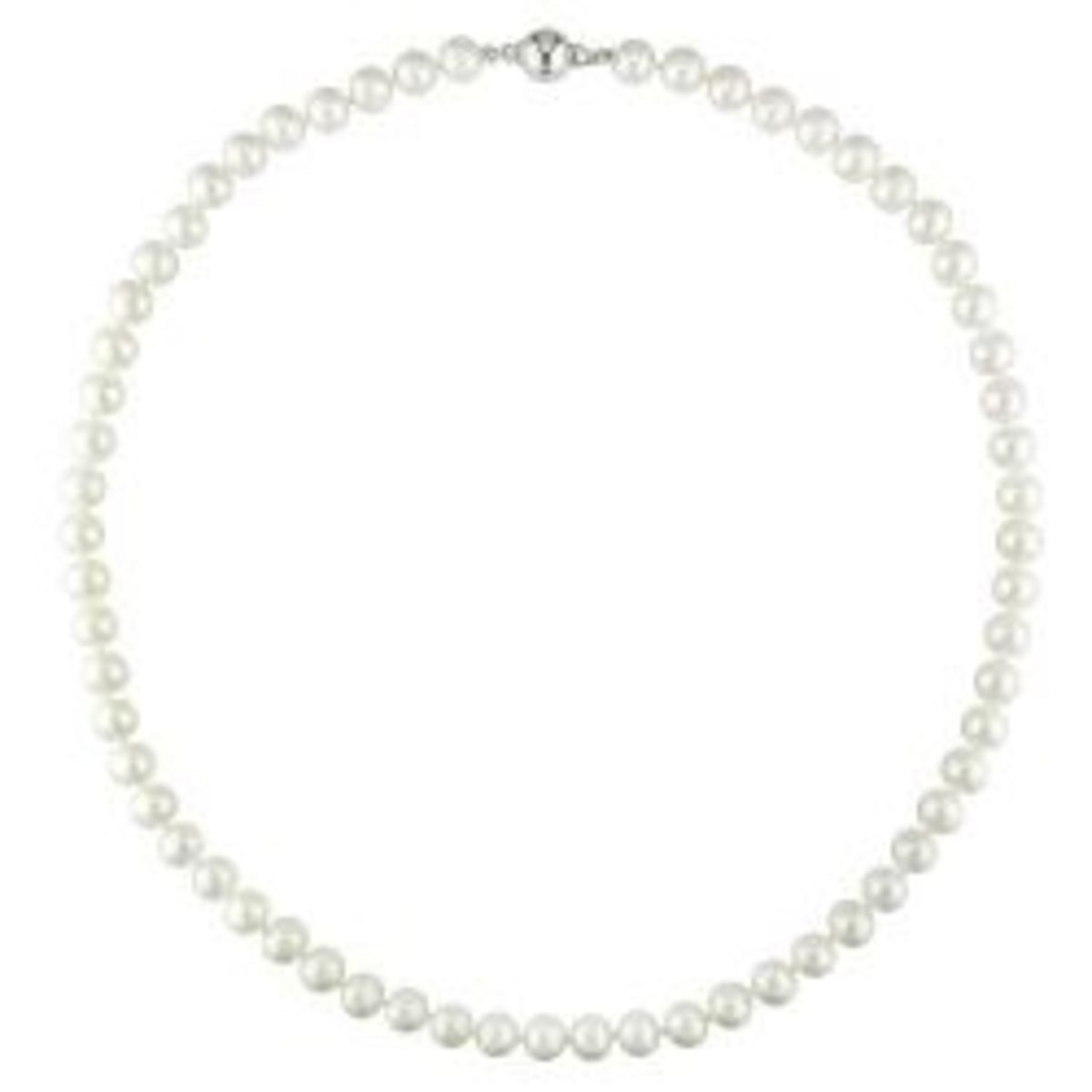 Silver Pearl Anniversary Necklace