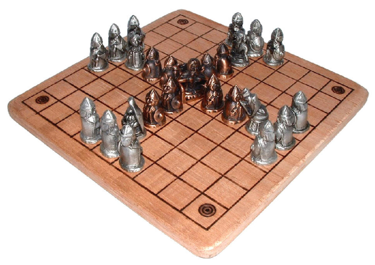 'Nine Men's Morris', a game similar to Hnefatafl below, and to the much later solitaire