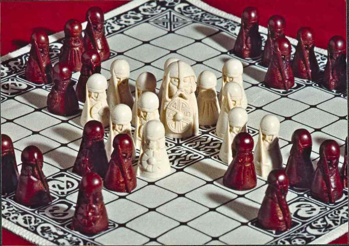 Hnefatafl board - I bought mine many years ago from the York Archaeological Trust shop by post before online shopping made things easier, and before the Jorvik Viking Centre was established on Coppergate.