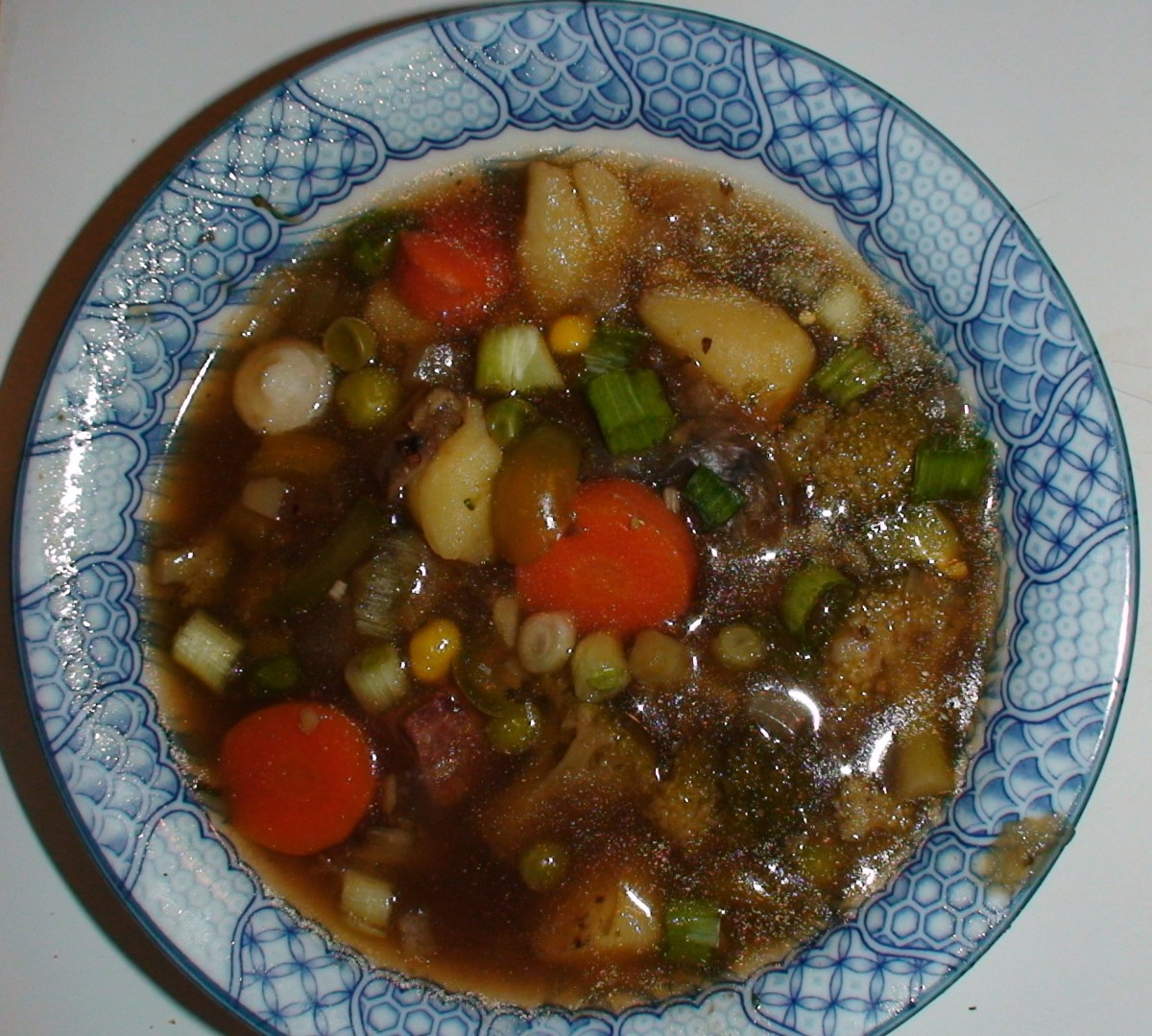 Hambugers, chopped up and added to beef broth with some fresh or frozen veggies and some seasoning, makes for an easy, delicious, and nutritious soup.