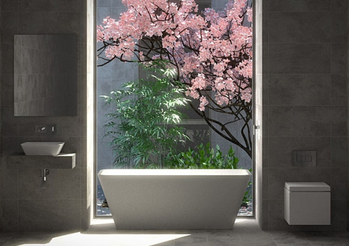 A Modern Zen Bathroom with a Minimalistic Feel