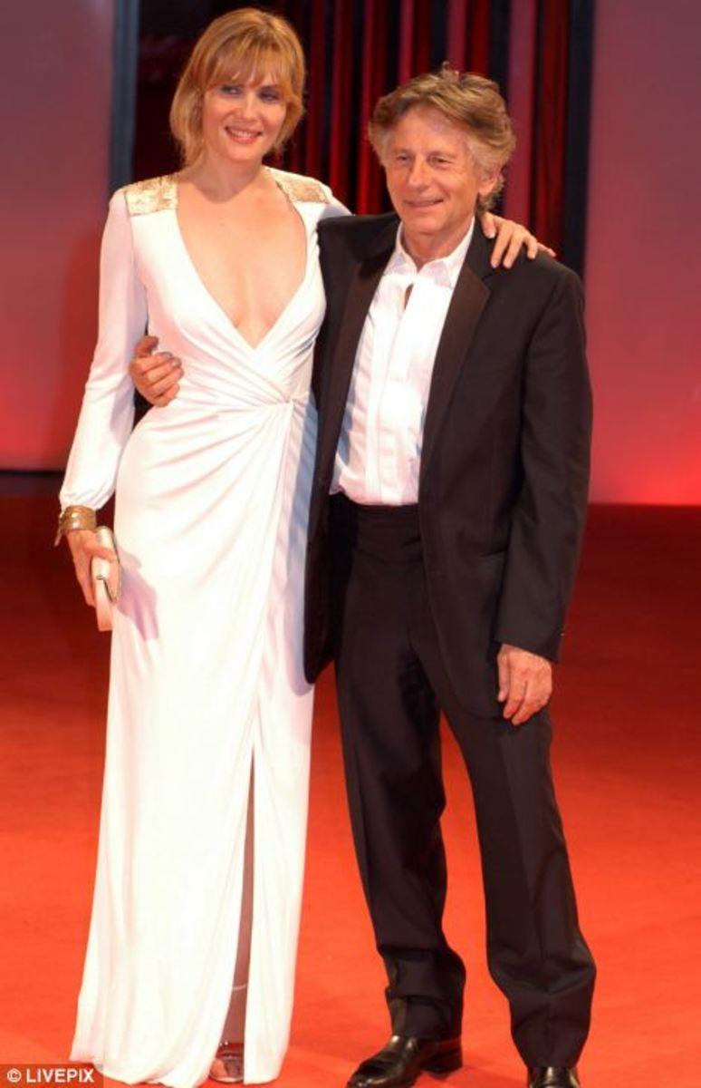 Emmanuelle Seigner with her husband, Roman Polanski