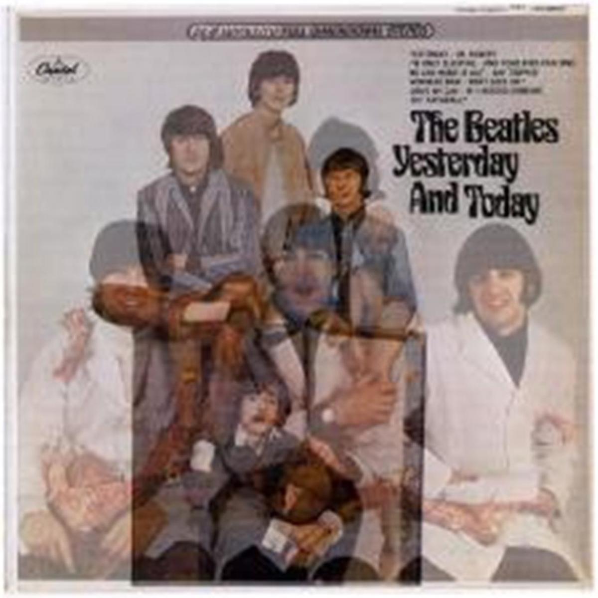 Beatles Butcher Album Superimposed