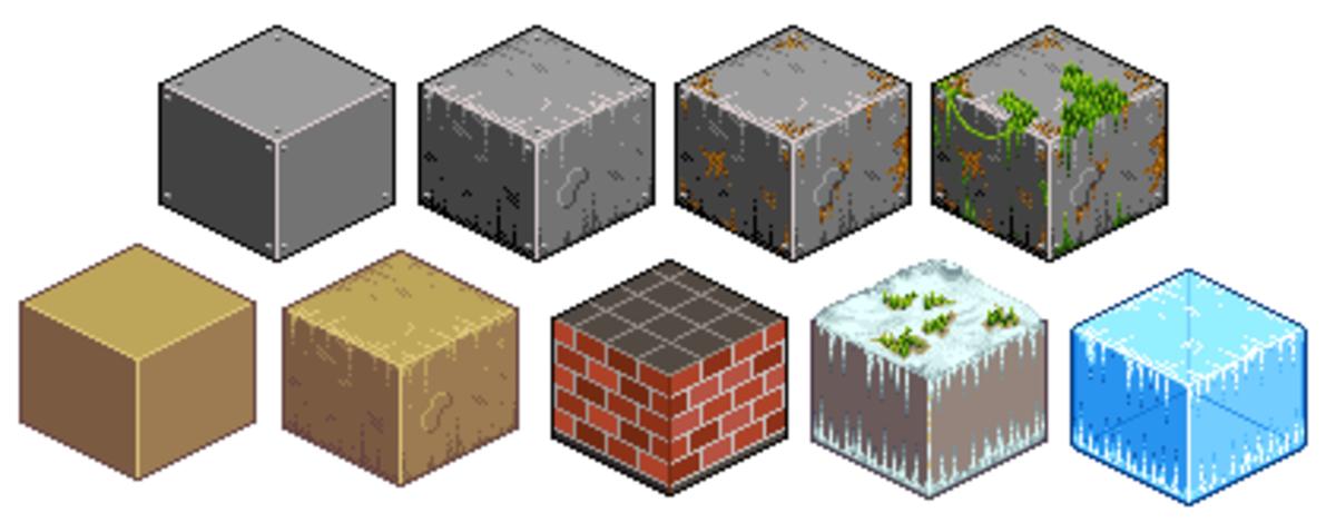 Basic Isometric Pixel Art