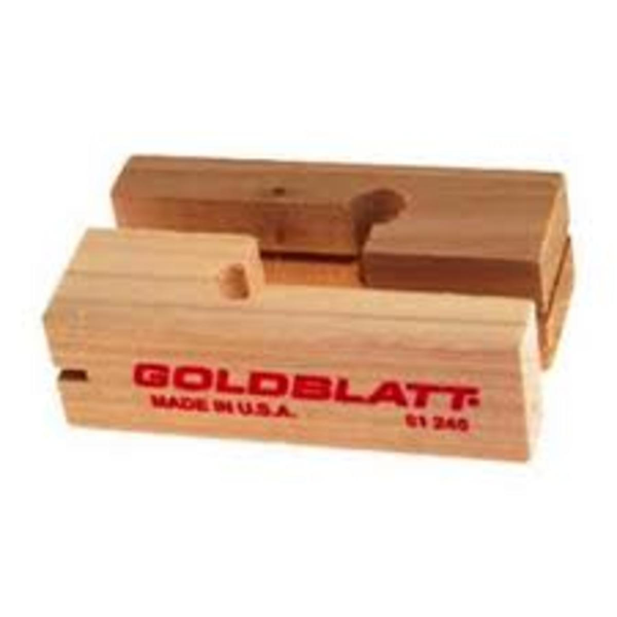 These wooden blocks are used to tie the bricklayer line, you can stretch the line tight so that it stays true straight.