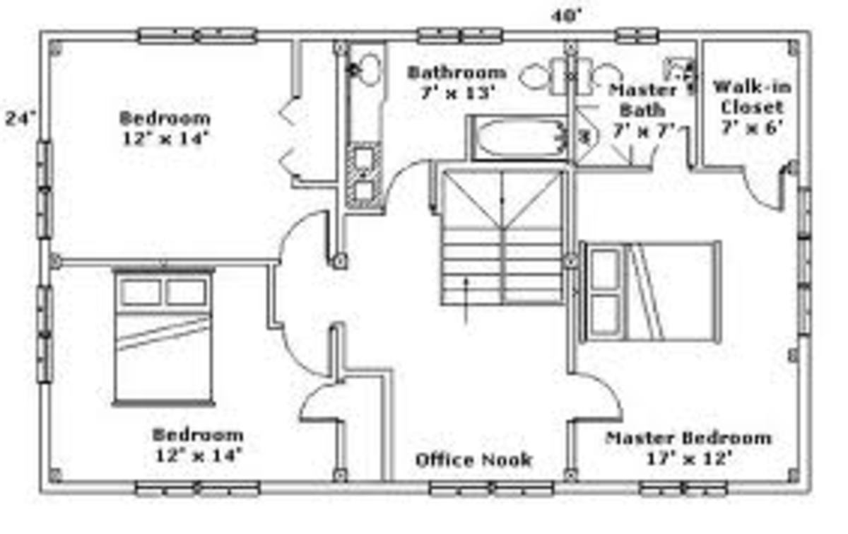 House floor plan, of course this is only one simple floor plan, but there are several plans even to build a house, starting from a foundation plan and specifications.