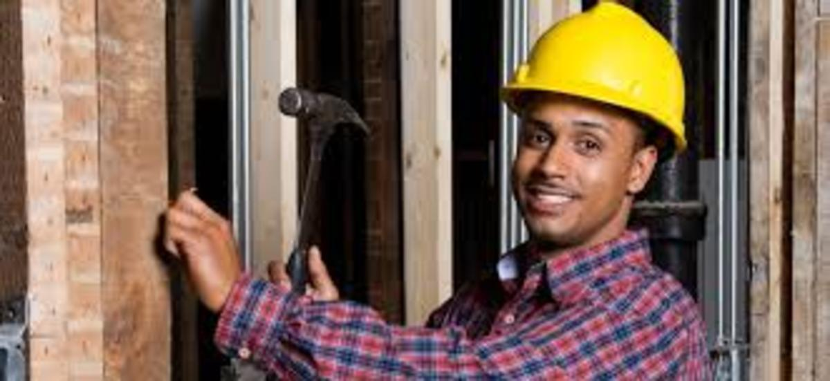 We need to say here that building are also made of timber, so any tradesman should know at least a bit about other trades, especially have some skills with a hammer and saw even if you are a good bricklayer you will need some of these skills one day.