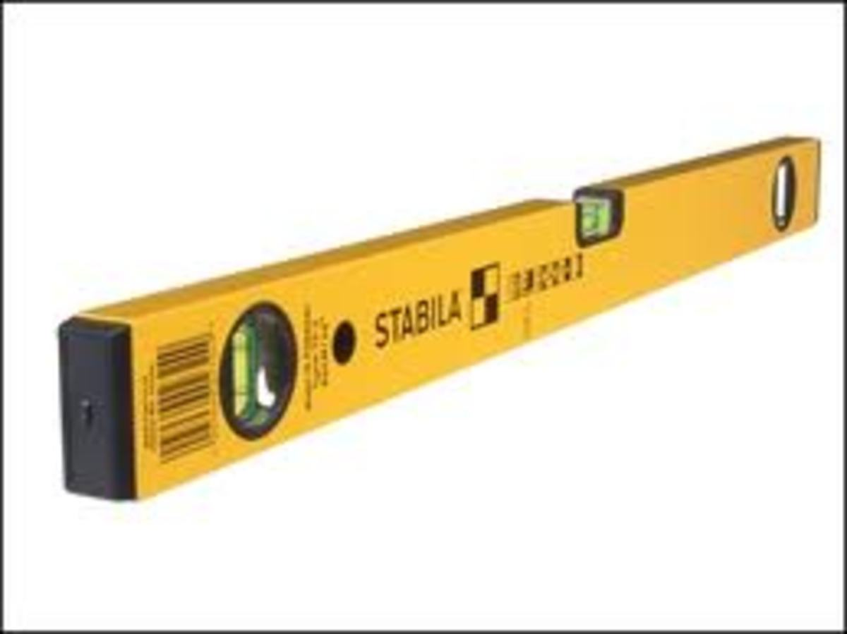 A good spirit level is necessary to lay the blocks level and plumb.