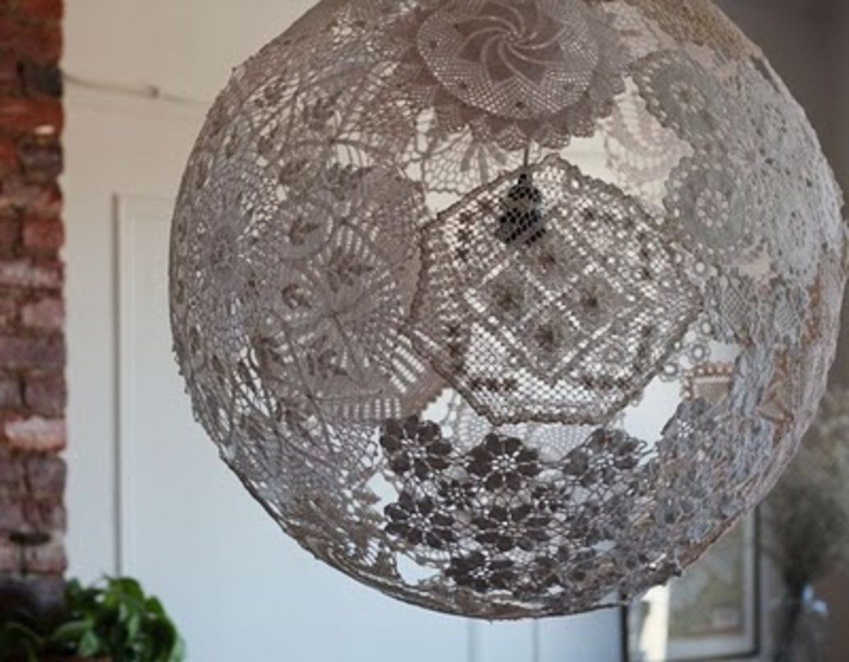Not Just a Yarn Ball: Super Neat DIY Lampshade
