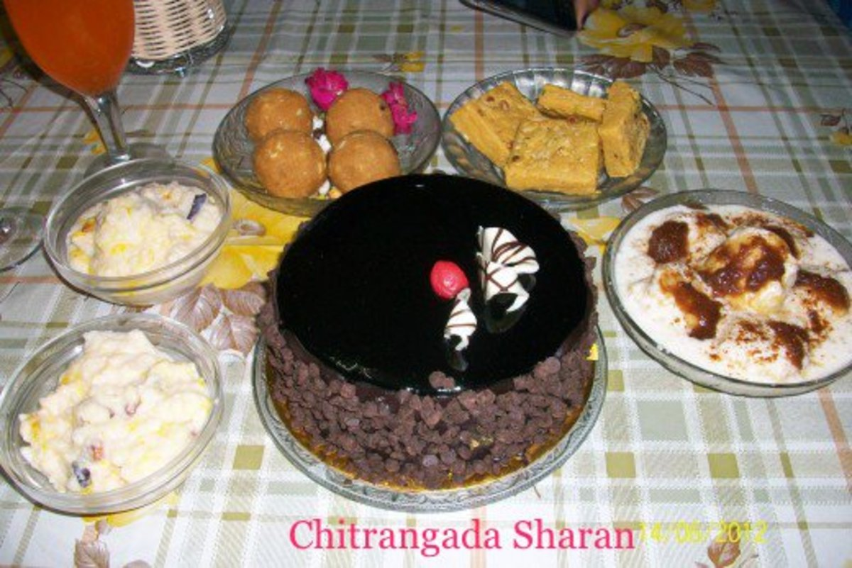 Birthday party at home with home cooked delicacies--Kids would love it