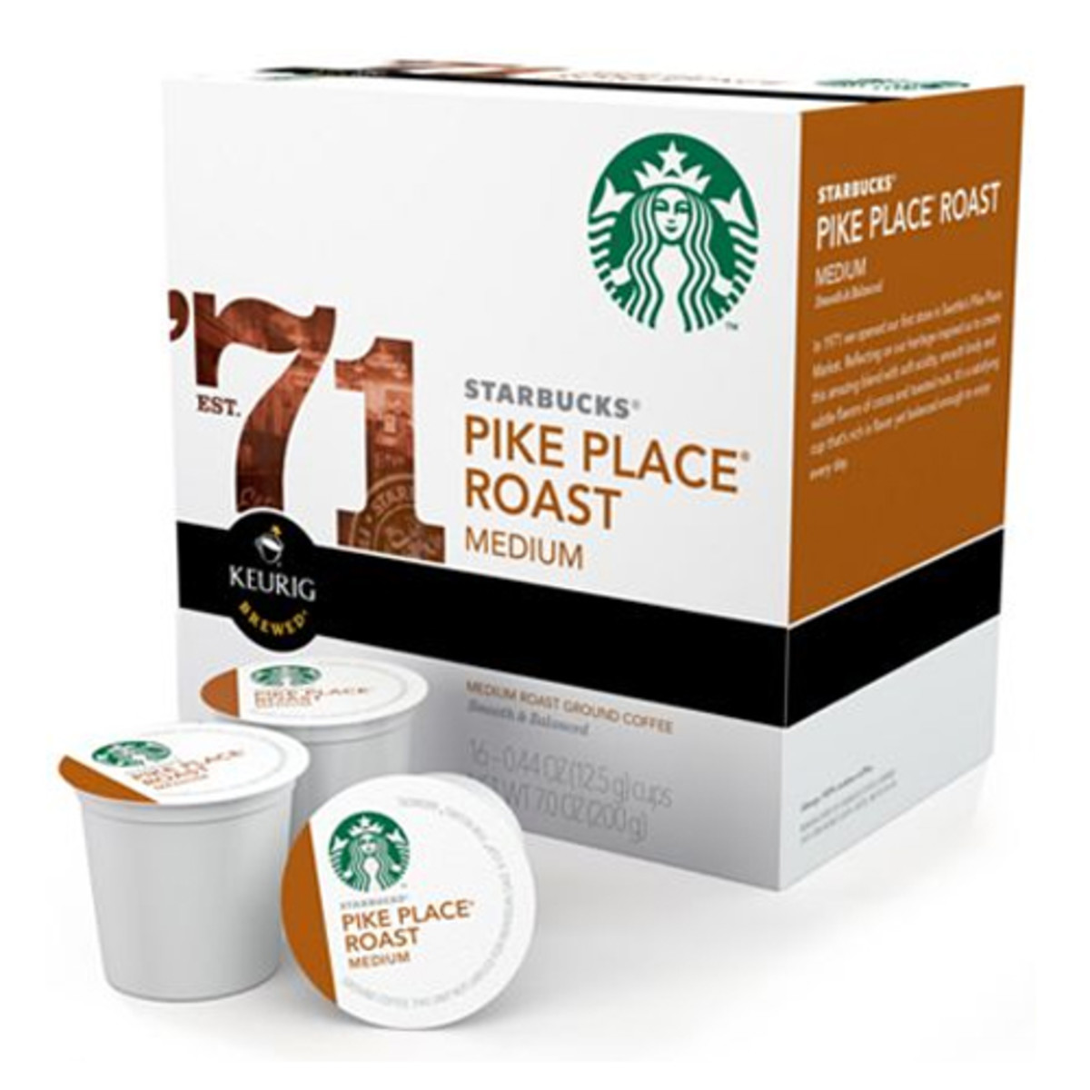 Starbucks recently started offering some of its blends in K-cups. Of course, the staple Pike Place is available.