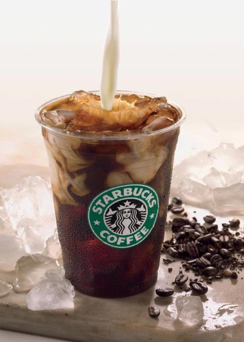This seems like a dangerous way to add cream to your iced coffee.