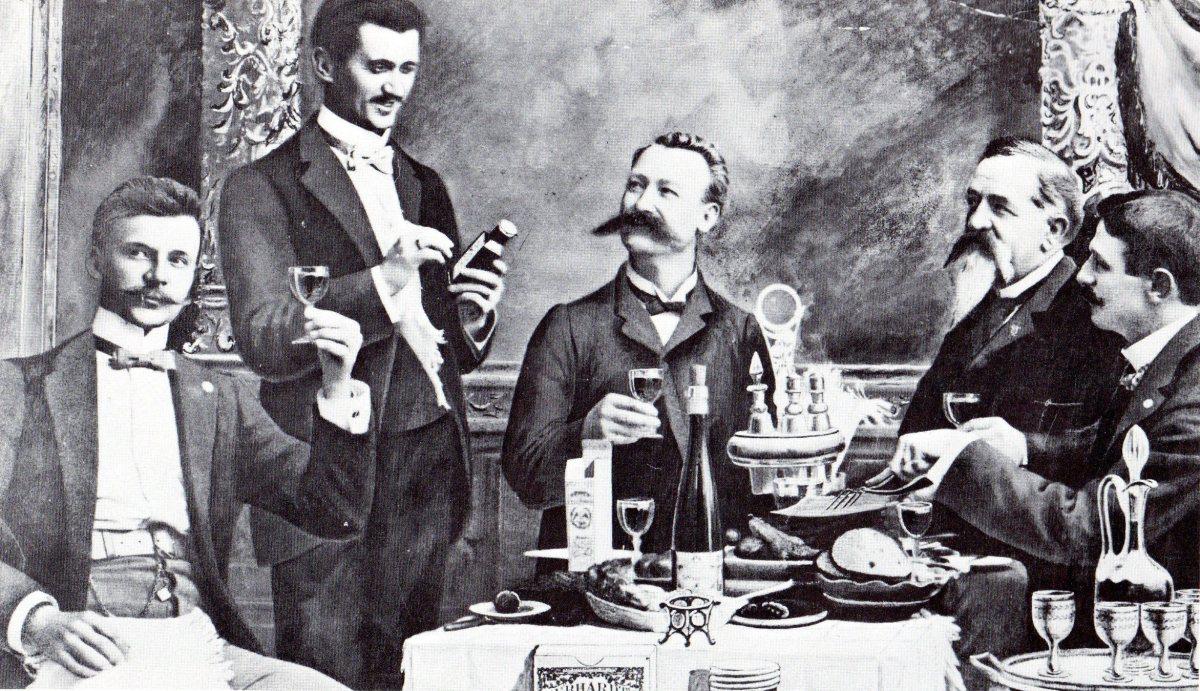 William Gebhardt enjoying the fruits of his labor.