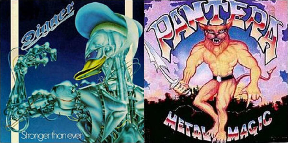 """Left: Digger, """"Stronger Than Ever;"""" right: Pantera, """"Metal Magic"""""""