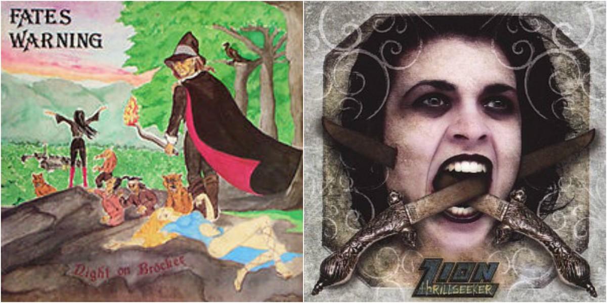 "Left: Fates Warning, ""Night On Brocken,"" right: Zion, ""Thrillseeker"""