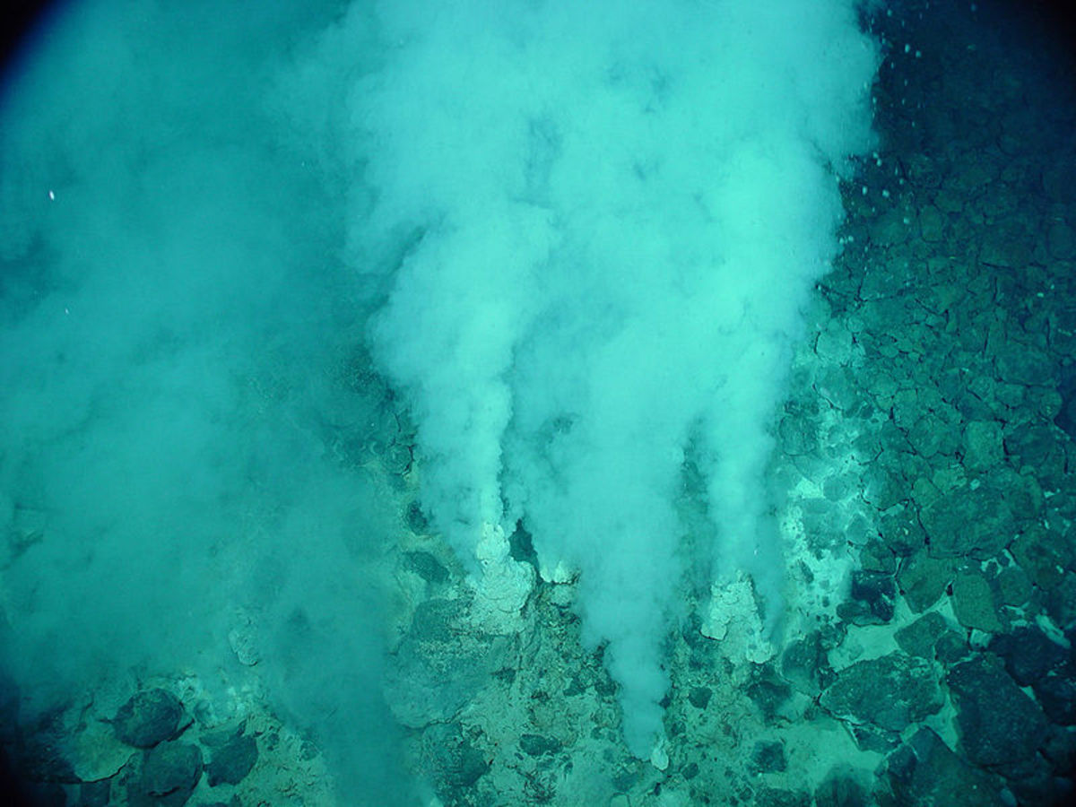 Deep sea vents such as these may have provided the energy required for life to begin in earnest.