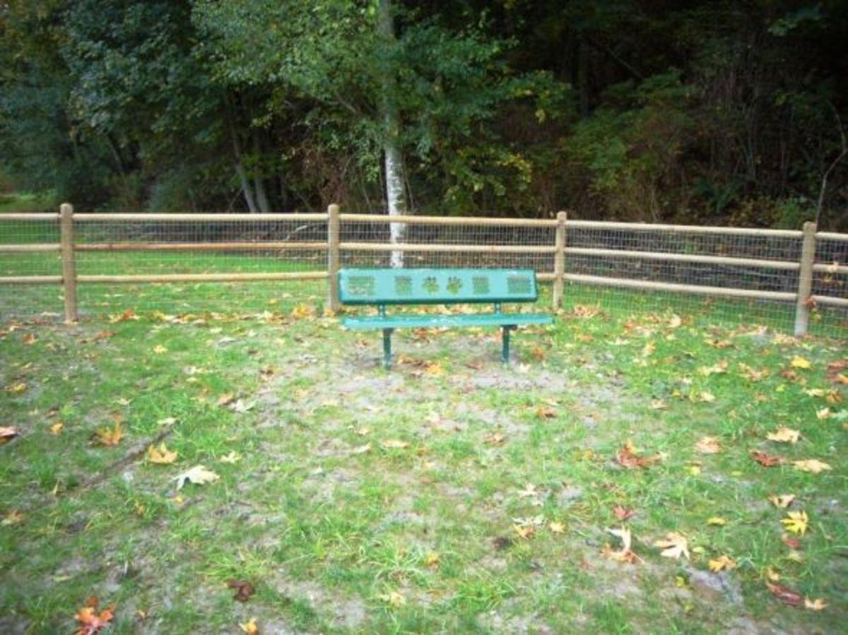 Benches at Mukilteo Dog Park