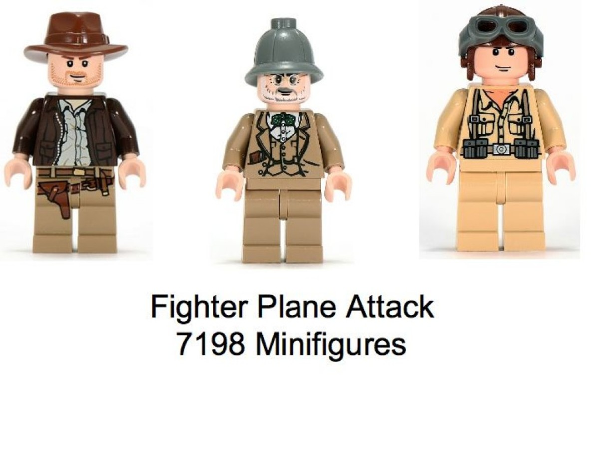 Lego Indiana Jones Fighter Plane Attack 7198 Minifigures