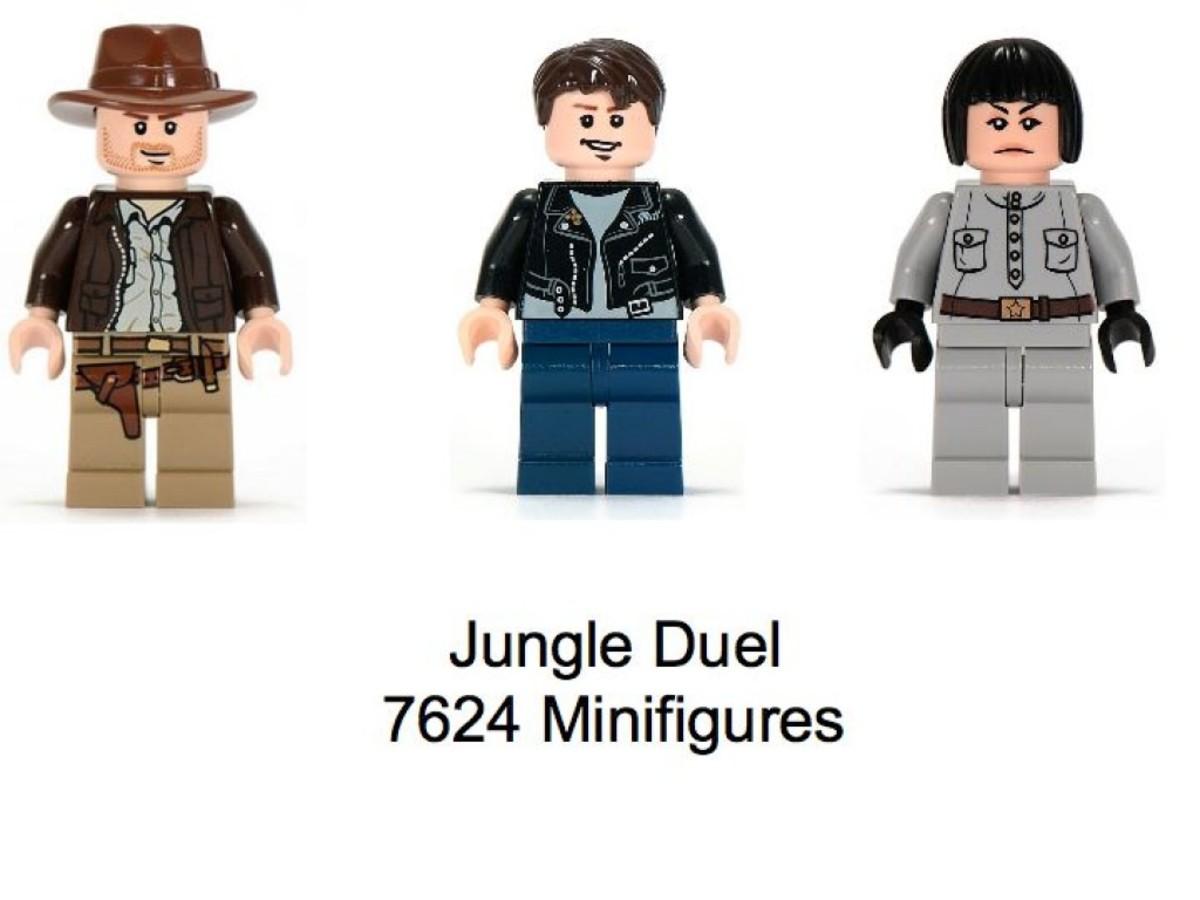 Lego Indiana Jones Jungle Duel 7624 Minifigures