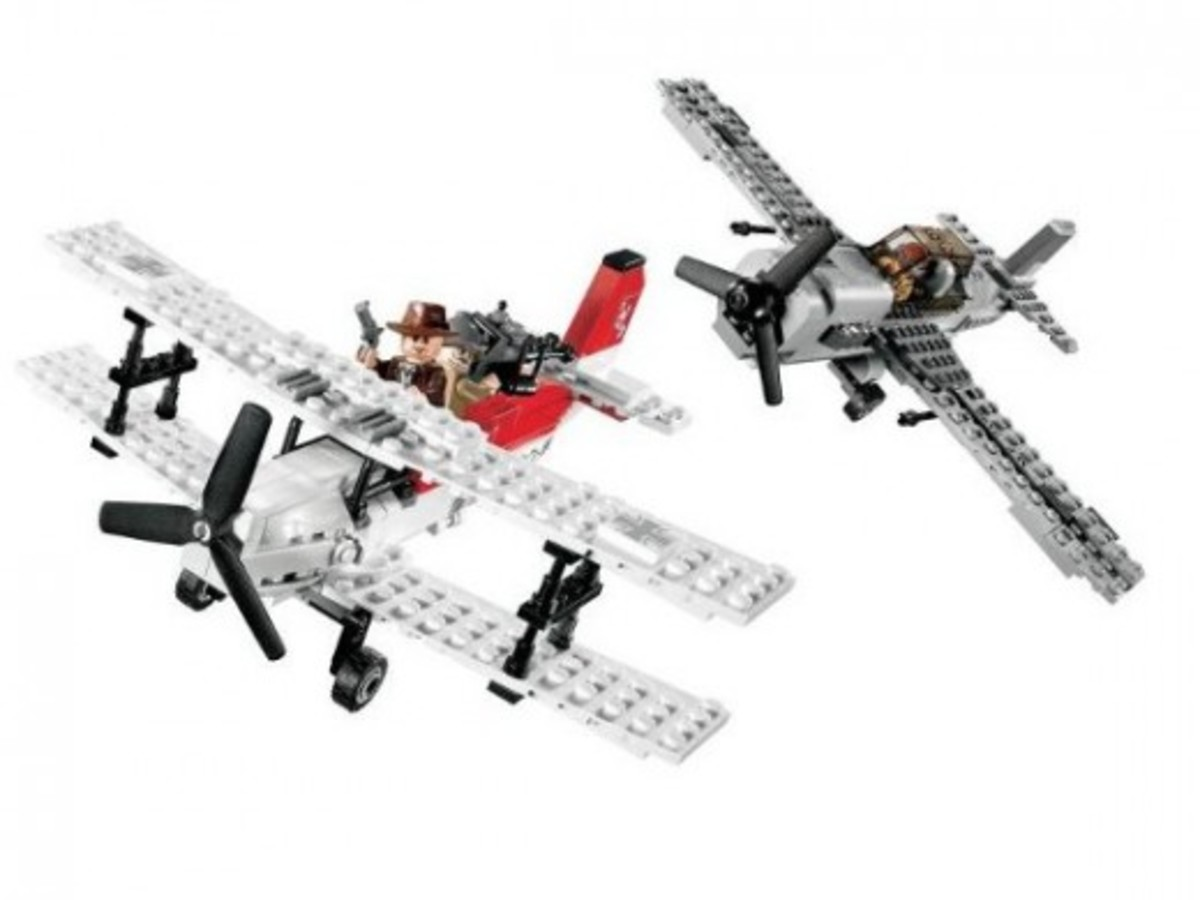 Lego Indiana Jones Fighter Plane Attack 7198 Assembled