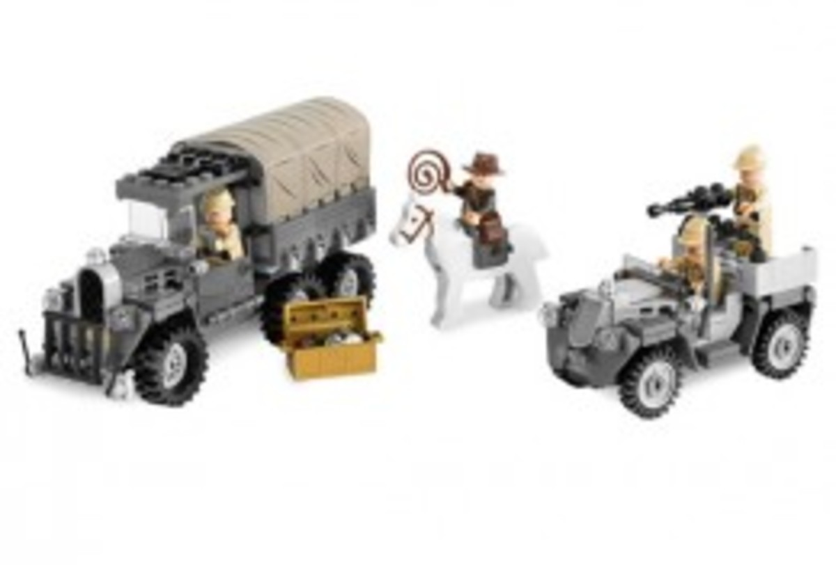 Lego Indiana Jones Race For The Stolen Treasure 7622 Assembled