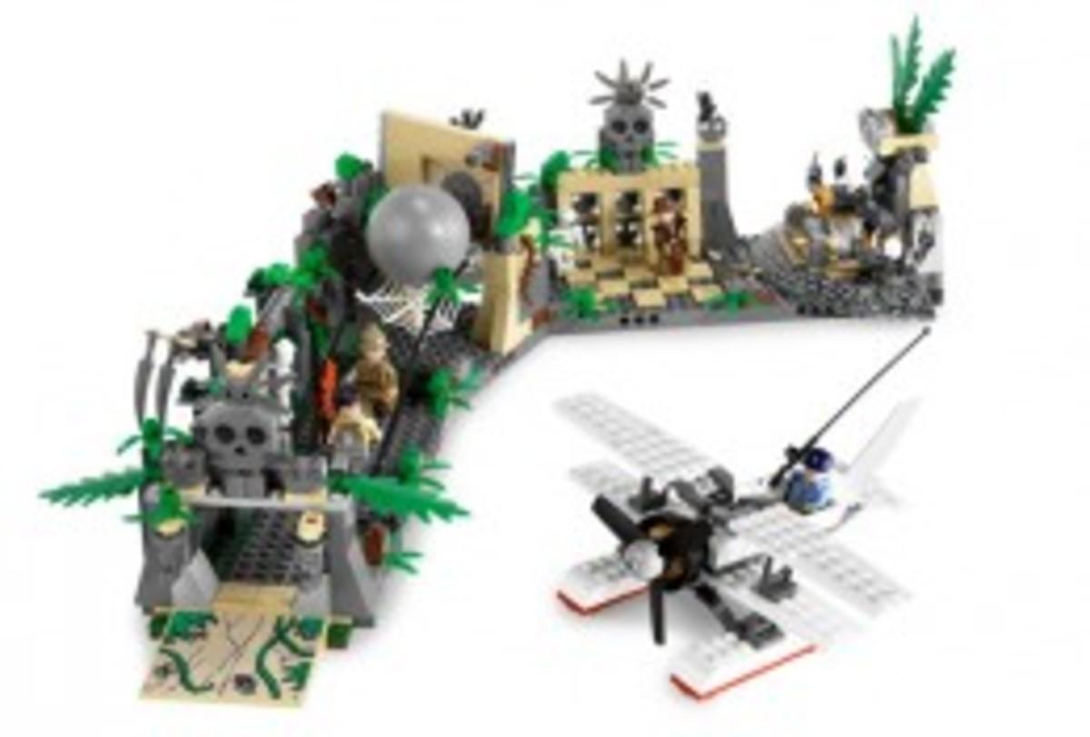 Lego Indiana Jones Temple Escape 7623 Assembled