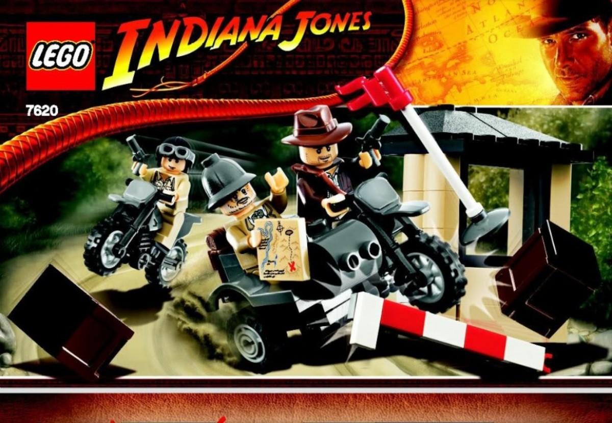 Lego Indiana Jones Motorcycle Chase 7620 Box