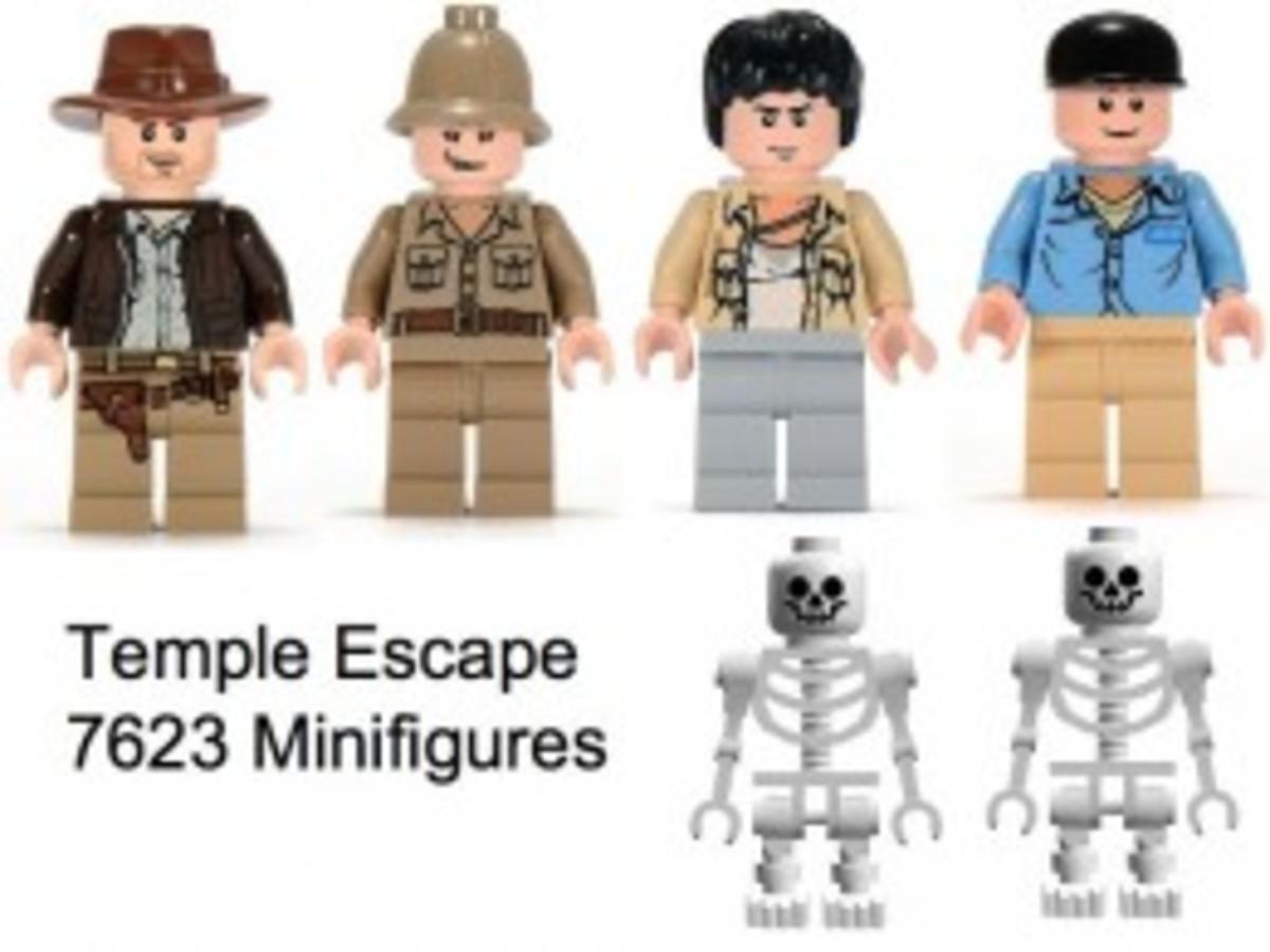 Lego Indiana Jones Temple Escape 7623 Minifigures