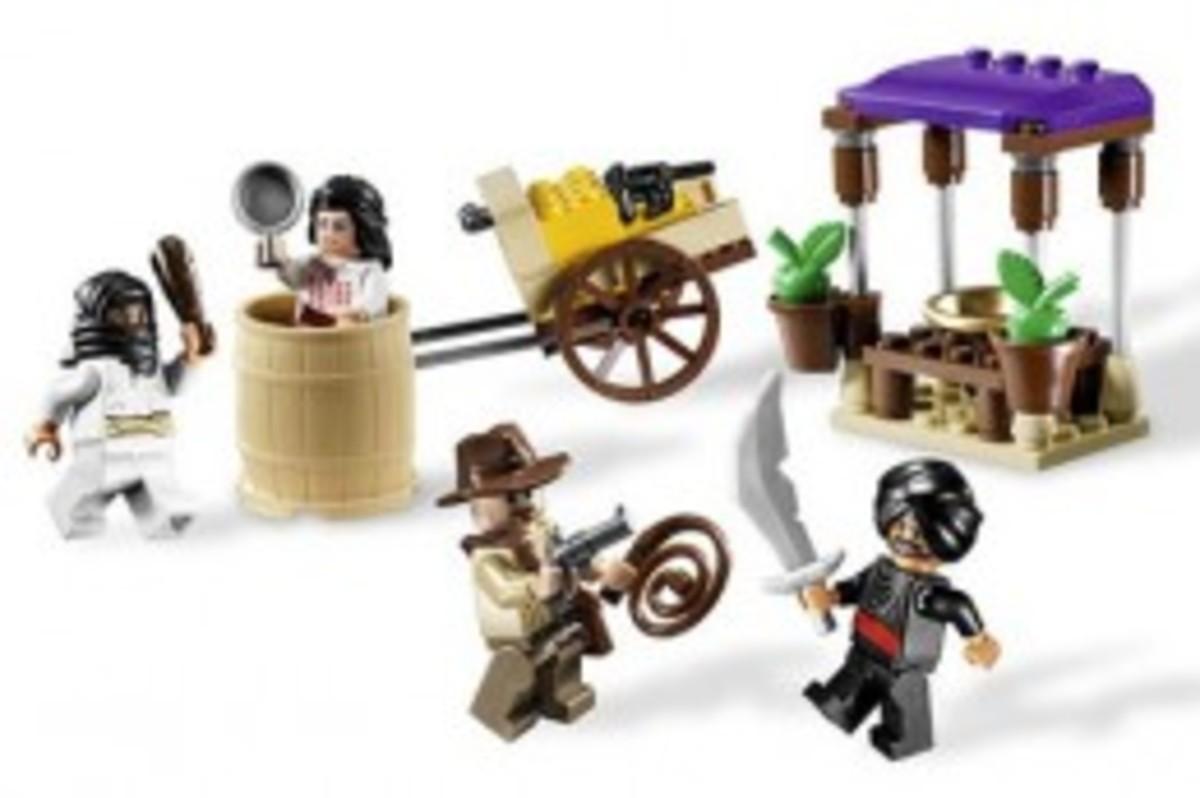 Lego Indiana Jones Ambush In Cairo 7195 Assembled