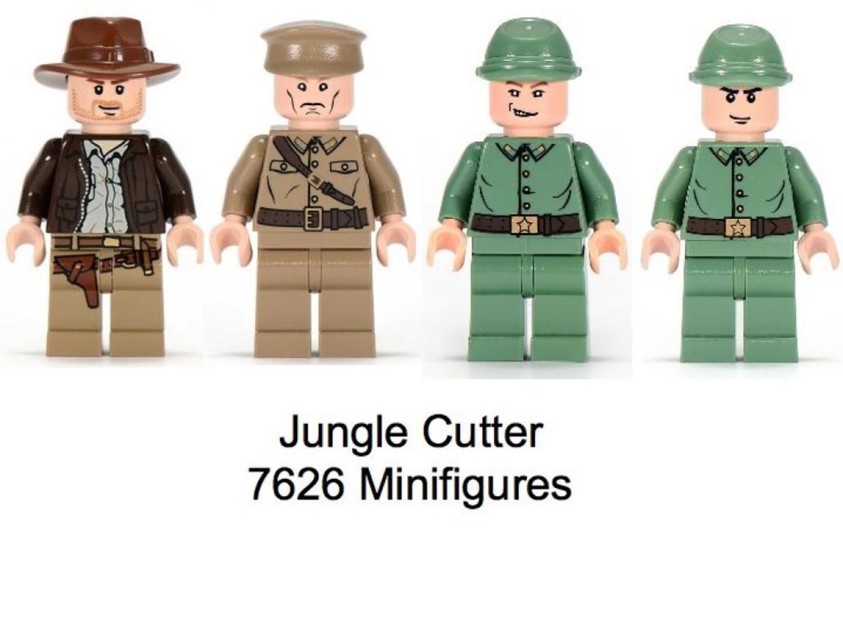 Lego Indiana Jones Jungle Cutter 7626 Minifigures