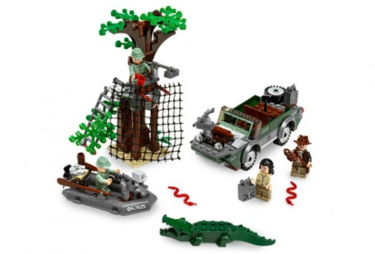 Lego Indiana Jones River Chase 7625 Assembled