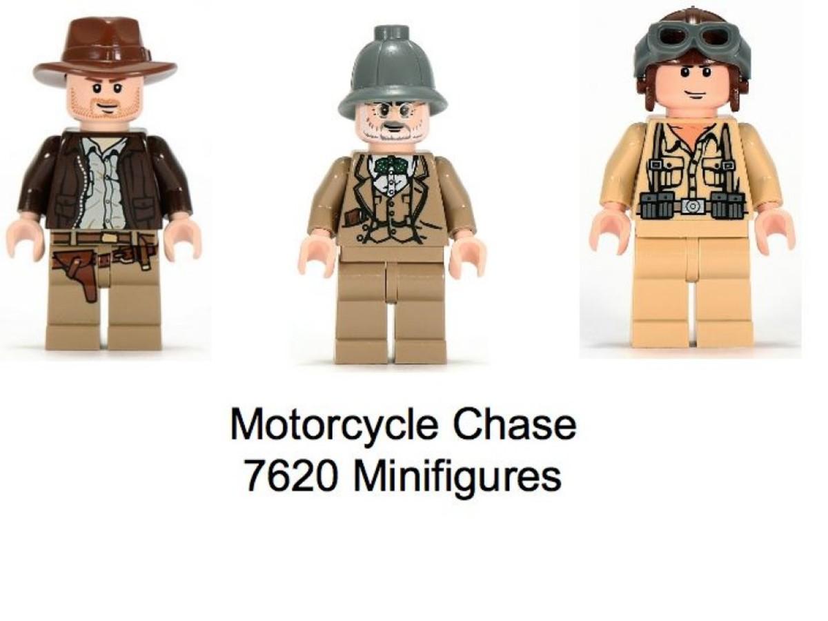 Lego Indiana Jones Motorcycle Chase 7620 Minifigures
