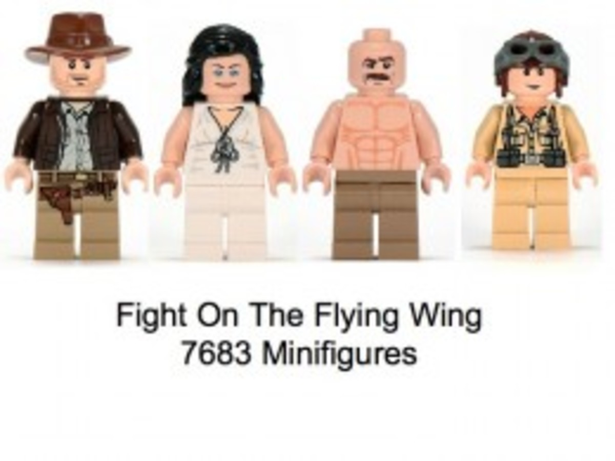 Lego Indiana Jones Fight On The Flying Wing 7683 Minifigures