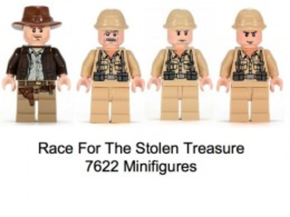 Lego Indiana Jones Race For The Stolen Treasure 7622 Minifigures