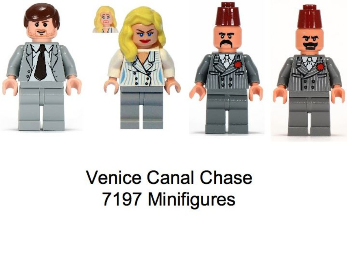 Lego Indiana Jones Venice Canal Chase 7197 Minifigures