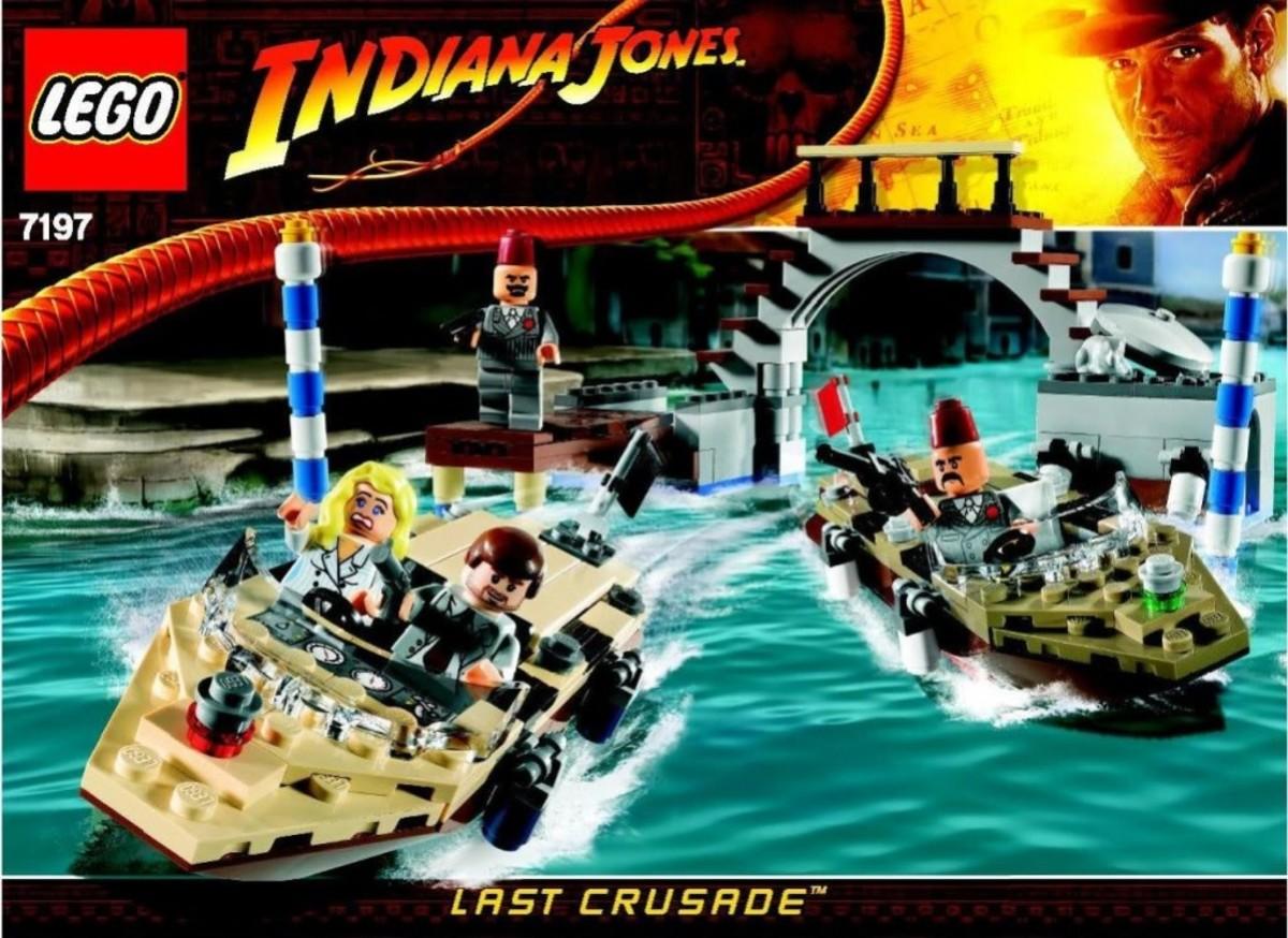 Lego Indiana Jones Venice Canal Chase 7197 Box