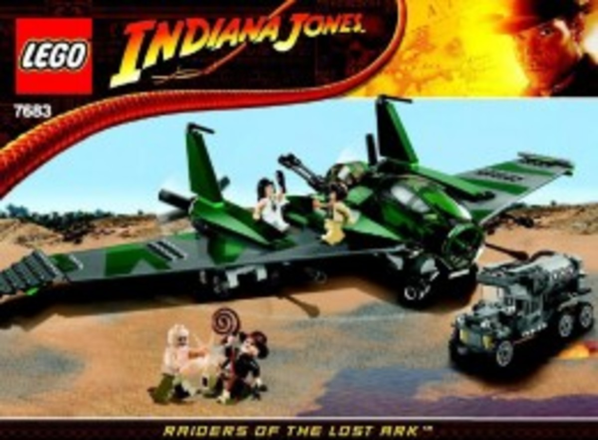 Lego Indiana Jones Fight On The Flying Wing 7683 Box