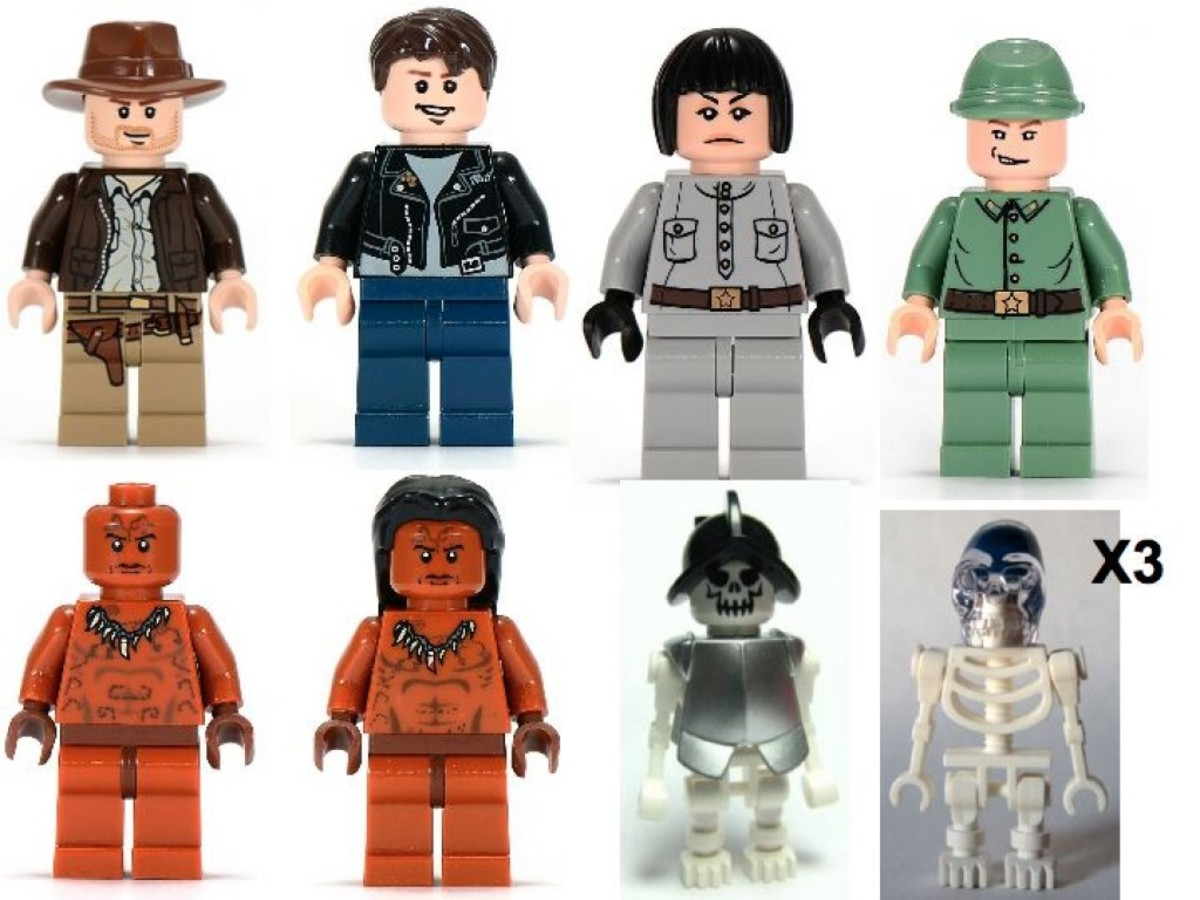 Lego Indiana Jones Temple of the Crystal Skull 7627 Minifigures