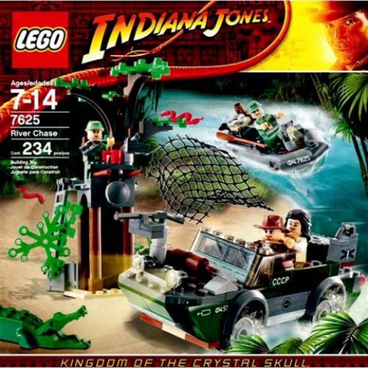 Lego Indiana Jones River Chase 7625 Box