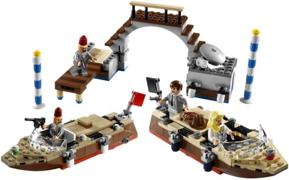 Lego Indiana Jones Venice Canal Chase 7197 Assembled