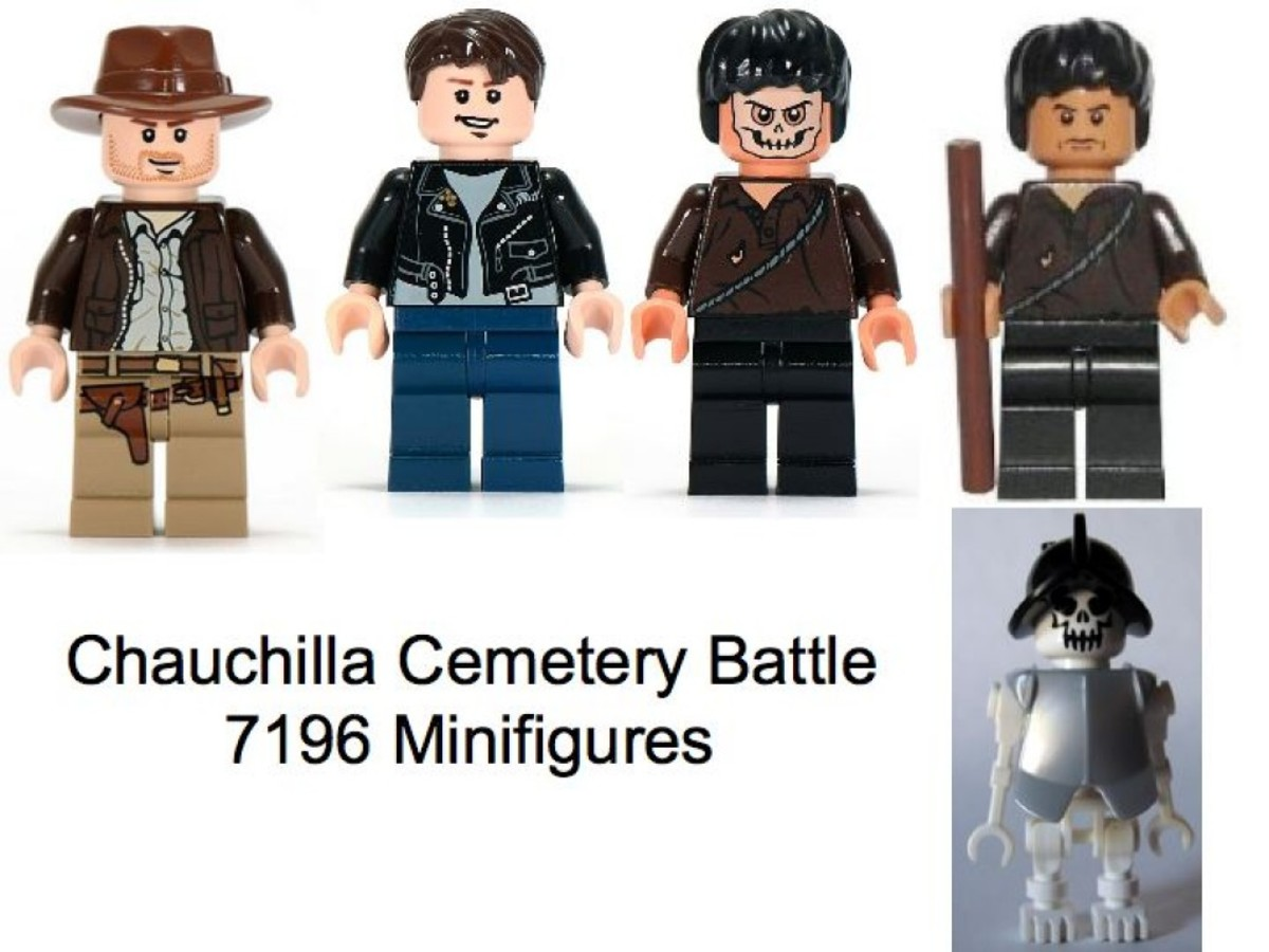 Lego Indiana Jones Chauchilla Cemetery Battle 7196 Minifigures