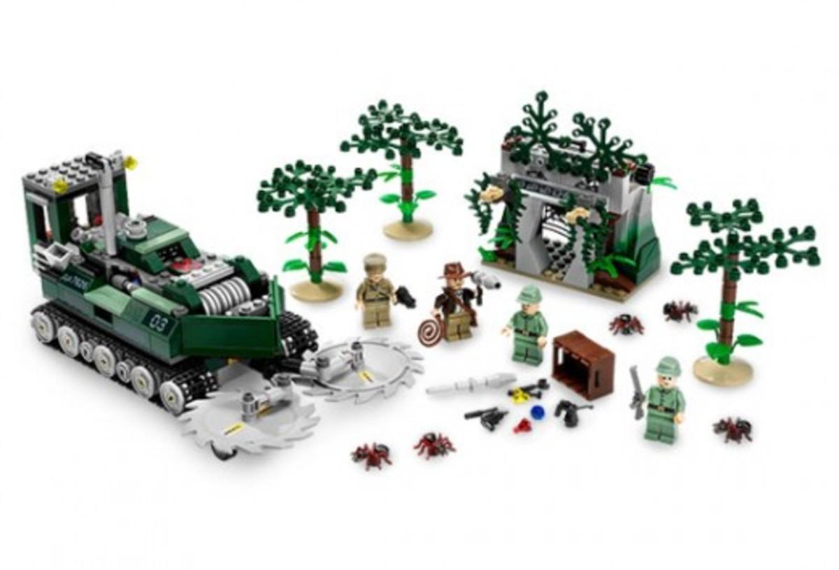 Lego Indiana Jones Jungle Cutter 7626 Assembled
