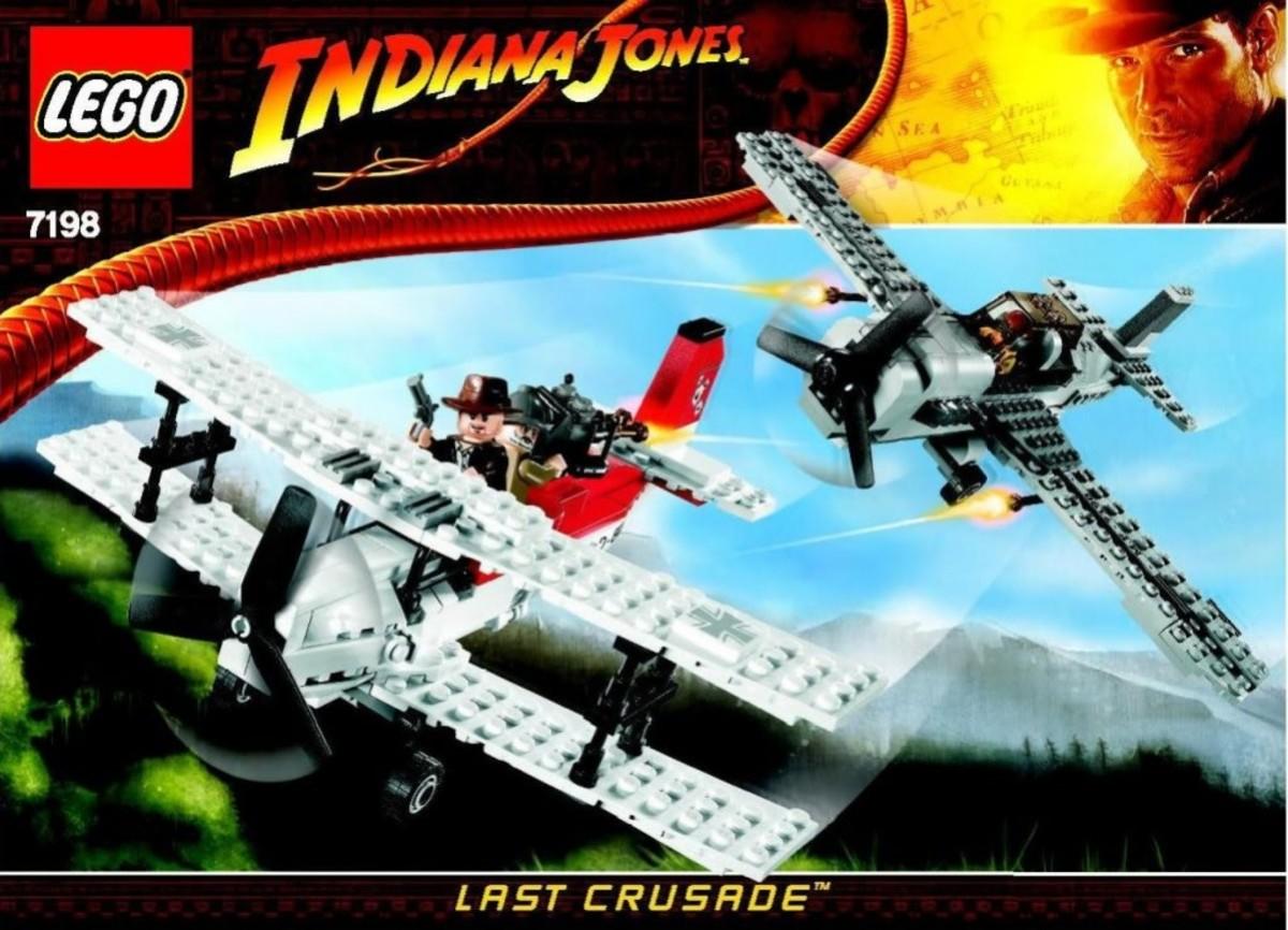 Lego Indiana Jones Fighter Plane Attack 7198 Box