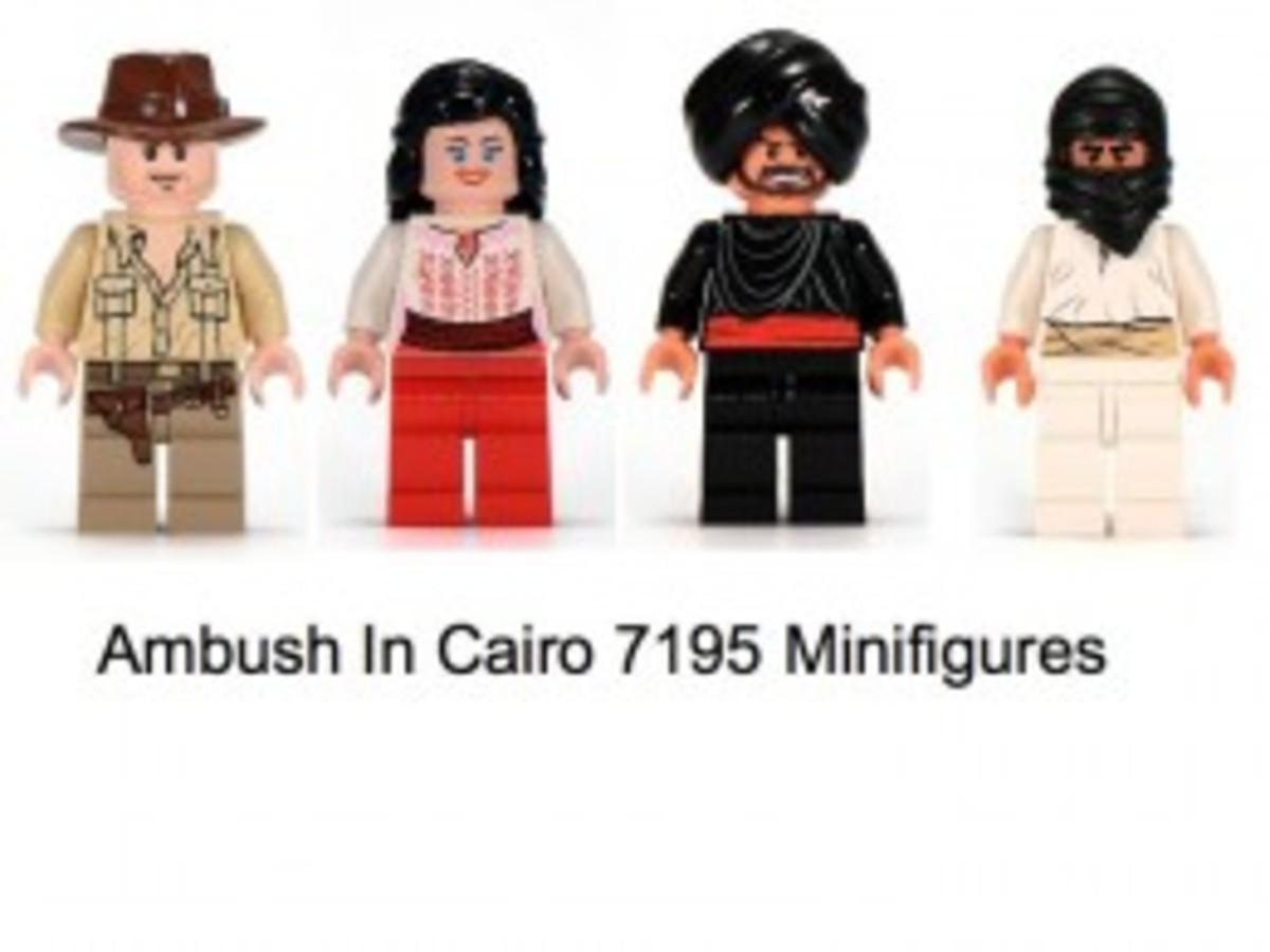 Lego Indiana Jones Ambush In Cairo 7195 Minifigures